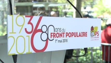 Rassemblement militant en hommage à Léon Blum et aux 80 ans du Front Populaire - 1er mai 2016
