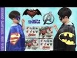 BATMAN vs SUPERMAN opens MARVEL AVENGERS Surprise Eggs | Liam and Taylor's Corner