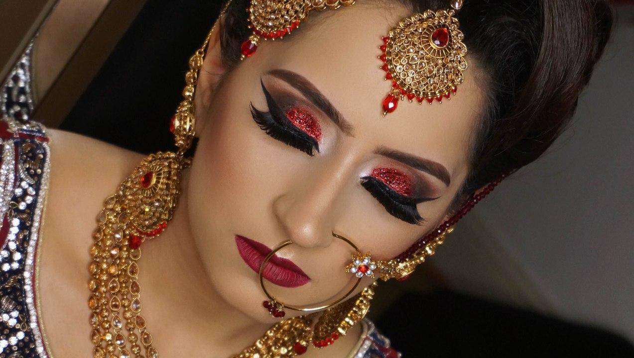 2016 Asian Bridal Hair And Makeup By Farah Khan Real Brid Asian Bridal Makeup Indian Brides Pakistani Bride Bridal Hairstyles Indian Pakistani Arabic Brides Asian Bride Indian Bridal