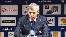 Olympique Lyonnais 2-1 Gazélec FC Ajaccio : les réactions de B. Génésio et de T. Laurey