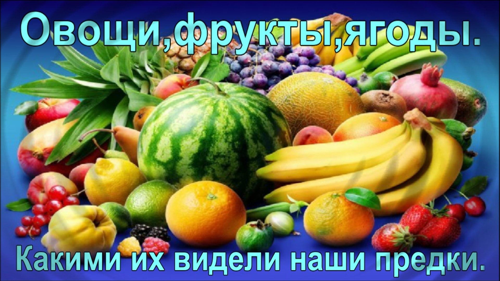 Овощи,фрукты,ягоды.Какими их видели наши предки.