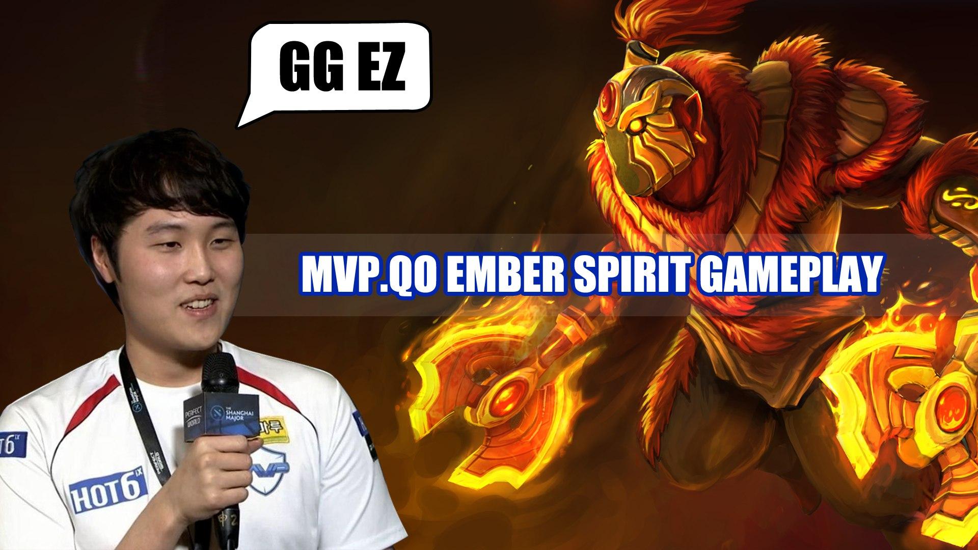 Dota 2 Pro Ranked Game - MVP.QO Ember Spirit Gameplay