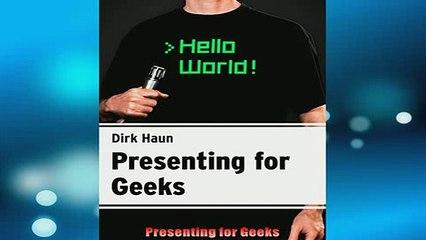 FAVORIT BOOK   Presenting for Geeks  FREE BOOOK ONLINE