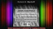 READ book  Jesse Livermores Methods of Trading in Stocks Full EBook