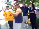 Mexican Man joins Anti-Immigration protests. Hilarity and rage ensues
