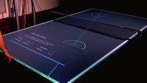 Les infos s'affichent sur la table de ping pong pendant le match ! Tennis de table high tech