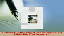 Ebook Professional Review Guide for the CCA Examination 2010