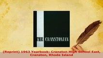 PDF  Reprint 1963 Yearbook Cranston High School East Cranston Rhode Island Download Online