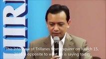 Trillanes says DUTERTE is not a corrupt politician