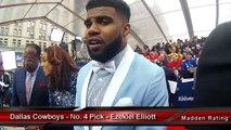 Dallas Cowboys' Rookie Ezekiel Elliott Guesses His Madden 17 Rating