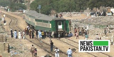 کراچی میں ٹرین کا حادثہ
