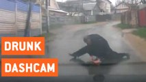Drunk Man Stops Traffic to Do Push-Ups | No Days Off