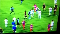 Karabukspor Fan Attacks The Referee and Footballer Attacks Fan With Flying Kick