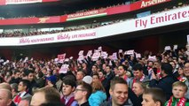 Arsenal v Norwich 1-0 Fans Protest Inside The Emirates