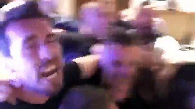 Leicester Players celebrate incredible Premier League win