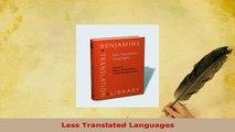 PDF  Less Translated Languages Download Online