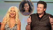 Blake Shelton and Christina Aguilera Gush Over Michelle Obama's 'Voice' Appearance