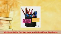 PDF  Writing Skills for Nursing and Midwifery Students Ebook