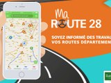 Spot de présentation application mobile Ma Route 28