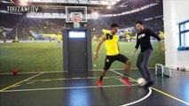 Freestyler Soufiane Touzani takes on Pierre-Emerick Aubameyang in a one-versus-one battle