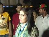Qandeel Baloch crying for Imran Khan outsite PTI Jalsa