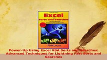 PDF  PowerUp Using Excel VBA Sorts and Searches Advanced Techniques for Lightning Fast Sorts Free Books