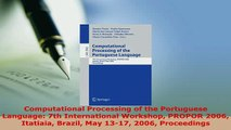 Download  Computational Processing of the Portuguese Language 7th International Workshop PROPOR  Read Online