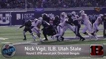 USU's Nick Vigil selected by Cincinnati Bengals in 3rd round of NFL draft