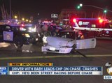 CHP says driver who crashed was street racing before chase