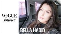 Bella Hadid : 24h de Fashion Week avec le Top en vogue au défilé Miu Miu | #VogueFollows  |  VOGUEPARIS