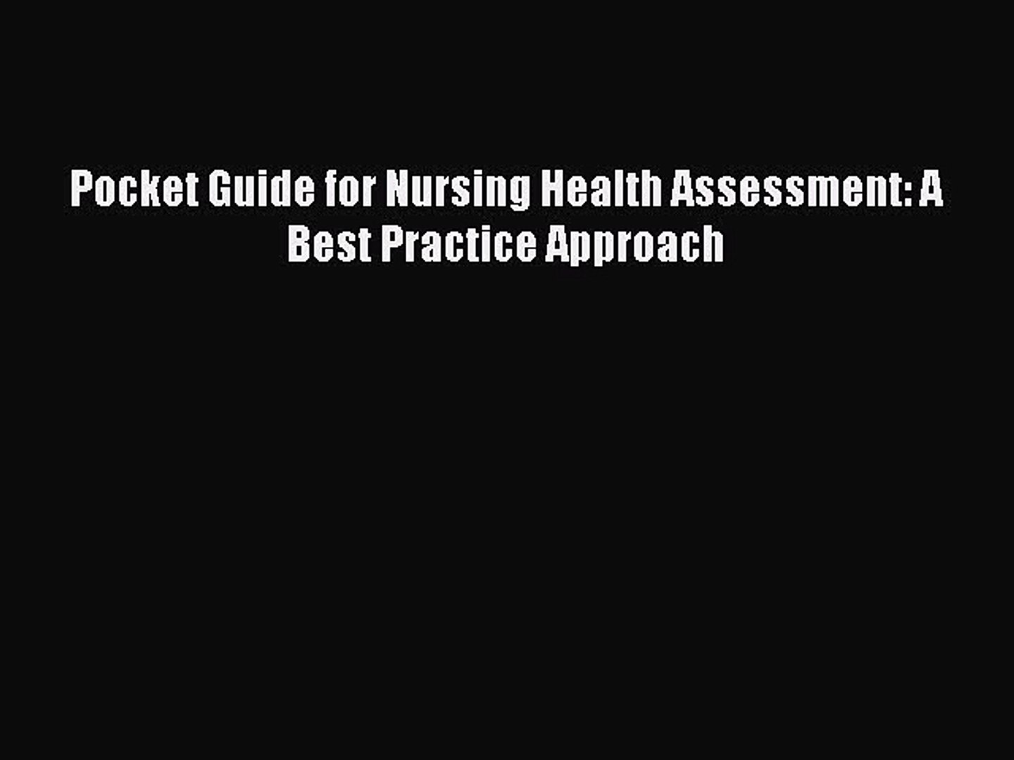 Mosbys Pocket Guide to Cultural Health Assessment