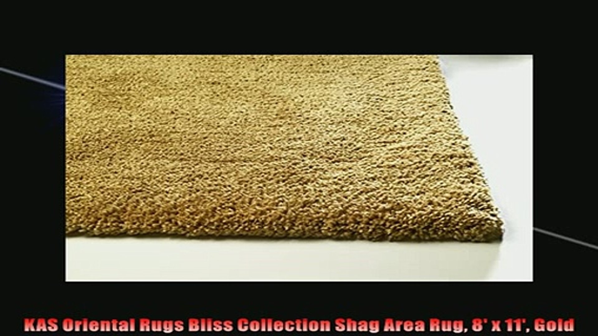 The Best Kas Oriental Rugs Bliss Collection Shag Area Rug 8 X 11 Gold