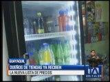 Dueños de las tiendas reciben nueva lista de precios para bebidas azucaradas