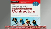 READ book  Working With Independent Contractors Working with Independent Contractors The Employers  FREE BOOOK ONLINE