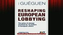 READ book  Reshaping European Lobbying READ ONLINE