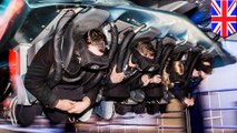 Thrill-seekers left hanging as VR roller coaster grinds to a halt in heavy rain