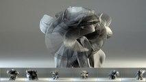 Les mouvements du Kung-Fu matérialisés en 3D... Superbe ! Kung Fu Motion Visualization