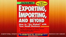 READ book  Exporting Importing and Beyond Adams Expert Advice for Small Business  DOWNLOAD ONLINE