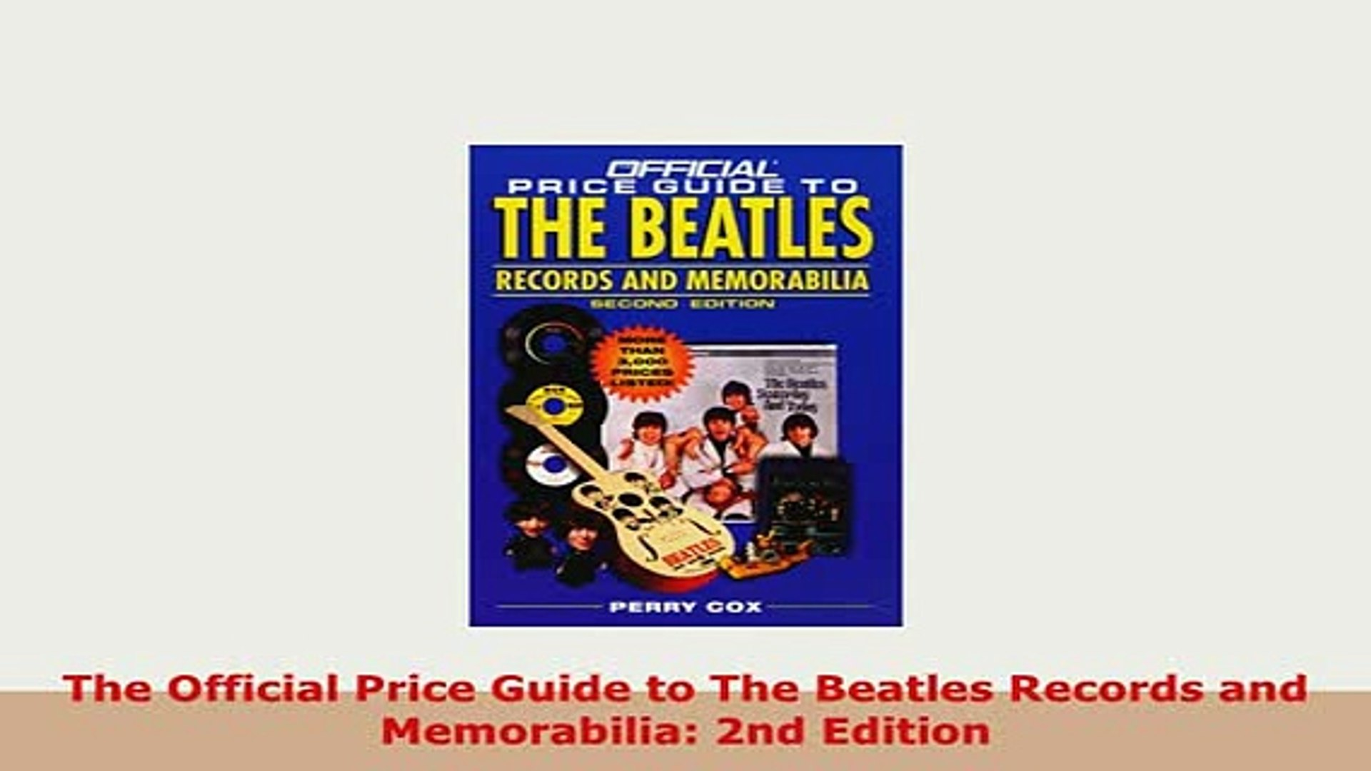 Download The Official Price Guide to The Beatles Records and Memorabilia  2nd Edition Free Books