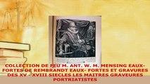 PDF  COLLECTION DE FEU M ANT W M MENSING EAUXFORTES DE REMBRANDT EAUX FORTES ET GRAVURES Free Books