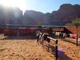 Jordanie - Randonnée à cheval dans le Wadi Rum : arrivée dans le désert