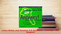 PDF  Lotus Notes and Domino 45 Answers Certified Tech Support Free Books