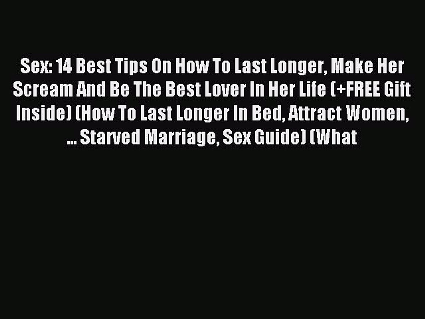 Bed tips on lasting long in How to
