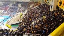AEK vs Panathinaikos 16-2-15--Gate 21 singing against Panathinaikos 2015
