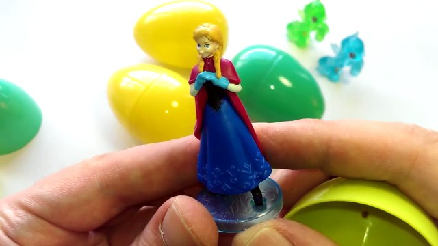 Spiderman My Little Pony Surprise Eggs Peppa Pig Frozen Kinder Kids Toys