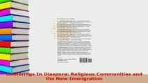 PDF  Gatherings In Diaspora Religious Communities and the New Immigration  EBook