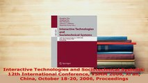 PDF  Interactive Technologies and Sociotechnical Systems 12th International Conference VSMM  EBook