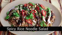 Spicy Rice Noodle Salad Recipe Cold Asian Noodle Salad with Grilled Chicken