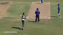 Ambati Rayudu reacts badly after given LBW against Australia A