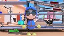 Coches de carreras Spid + naves espaciales Star Wars   Dibujo animado para niños